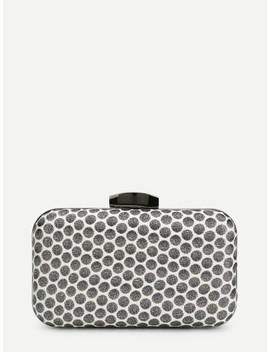 Polka Dot Clutch Chain Bag by Sheinside