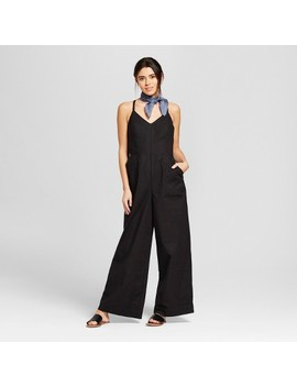 Women's Side Button Jumpsuit   Universal Thread™ Black by Universal Thread™