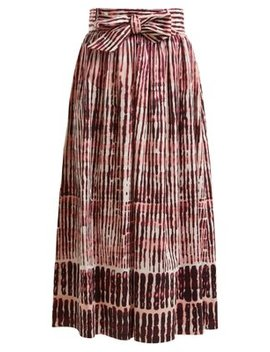 Faro Batik Striped Stretch Cotton Skirt by Goat