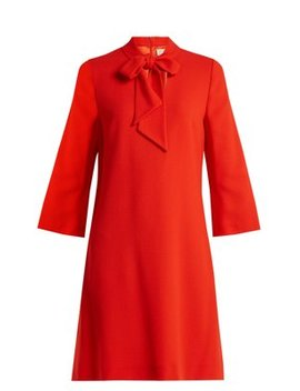 Ginny Neck Tie Wool Crepe Dress by Goat