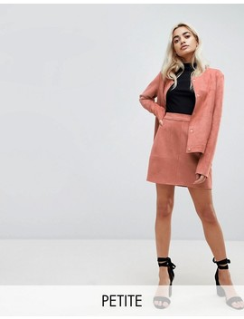 Vero Moda Petite Faux Suede Blazer & Mini Skirt Co Ord by Asos