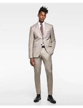 Birdseye Suit Trousers  View All Pants Man by Zara