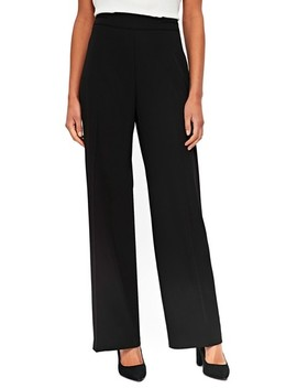 Wide Leg Knit Trousers by Wallis