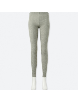 Women Heattech Knitted Leggings 1 Pack (Cable) by Uniqlo