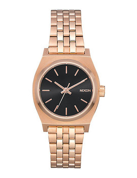 Nixon Small Time Teller Rose Gold & Black Watch by Nixon Watches