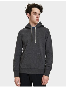 Pullover Terry Hoodie In Heather Charcoal by Need Supply Co.