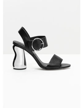 O Ring Metallic Heeled Sandals by & Other Stories