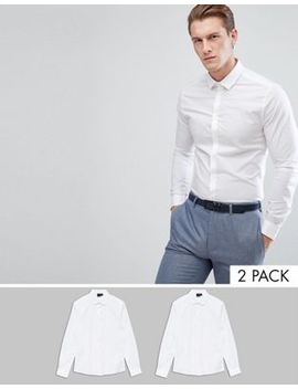 Asos Skinny Fit Shirt 2 Pack Save by Asos