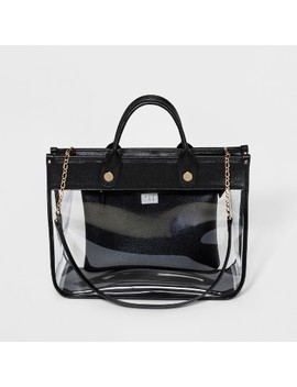 Clear Tote Handbag   A New Day™ Black by A New Day™