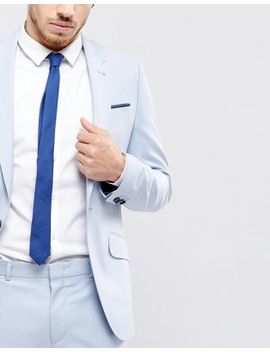 Asos Slim Tie In Navy by Asos