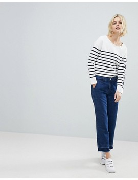 Suncoo Breton Stripe Jumper With Lacing by Suncoo