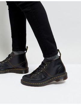 Dr Martens Church Monkey Lace Up Boots In Black by Dr Martens