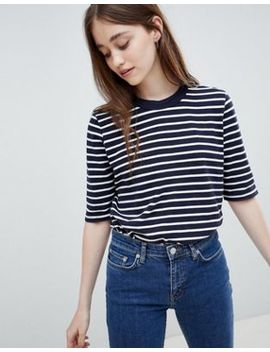 Wood Wood Adda Stripe T Shirt by Wood Wood