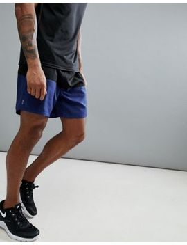 New Look Sport Shorts With Color Blocking In Black And Navy by New Look