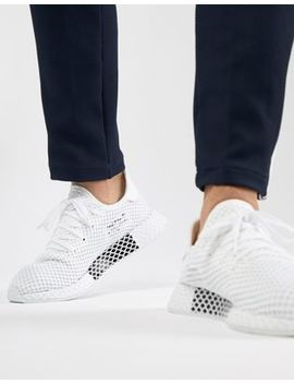 Adidas Originals Deerupt Runner Trainers In White Cq2625 by Adidas Originals