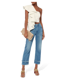 Hailey One Shoulder Ruffle Top by Amur
