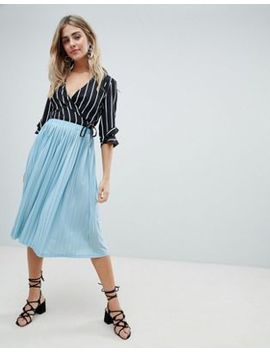 Missguided Pleated Midi Skirt by Missguided