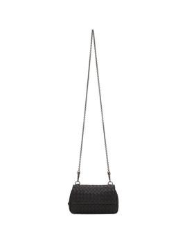 Black Mini Disco Bag by Bottega Veneta