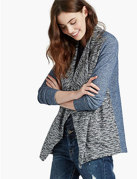 Sweater Mix Drape Front by Lucky Brand