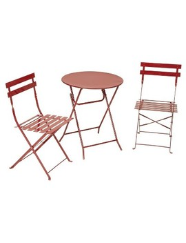 3pc Metal Patio Folding Bistro Set   Cosco by Cosco