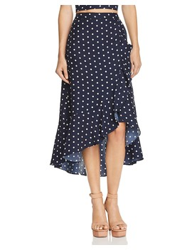 Ruffled Polka Dot Skirt   100 Percents Exclusive by Lucy Paris