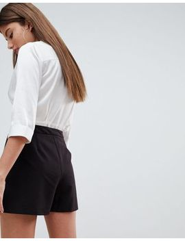 Asos Design Tailored A Line Shorts With Pleat Front by Asos Design