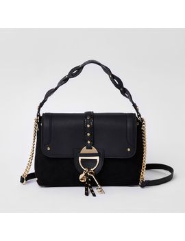 Black Key Charm Tab Crossbody Tote Bag                                  Black Key Charm Tab Crossbody Tote Bag by River Island