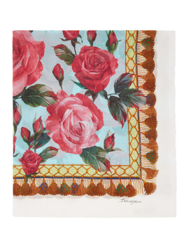 Multicolor Roses Scarf by Dolce & Gabbana