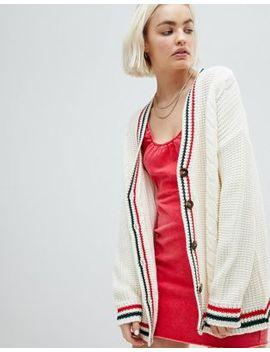 Asos   Cardigan Avec Bordures Contrastantes Style Sport by Asos Collection