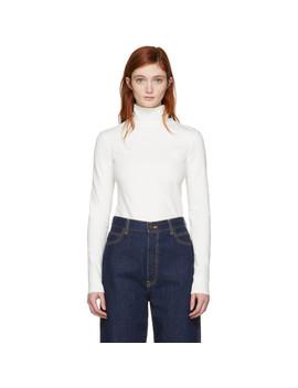 Off White Logo Turtleneck by Calvin Klein 205 W39 Nyc