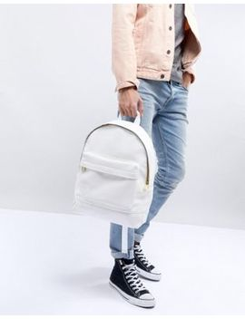 Mi Pac Tumbled Backpack In White by Mi Pac