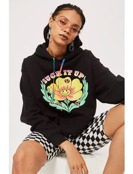 'suck It Up Buttercup' Hoodie By New Girl Order by Topshop