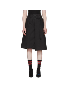 Black Trench Wrap Skirt by Vetements
