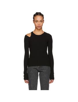 Black Slash Sweater by Helmut Lang