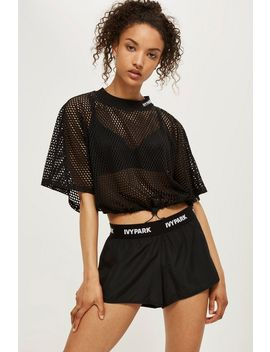 Drawcord Mesh Short Sleeve Top By Ivy Park by Topshop