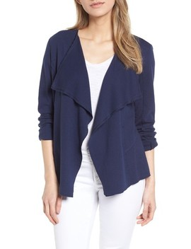 Moto Collar Cotton Knit Jacket by Caslon®
