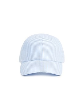 Seersucker Baseball Cap by Larose