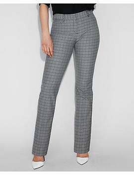 Mid Rise Plaid Barely Boot Columnist Pant by Express