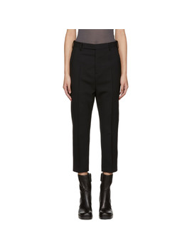 Black Easy Astaires Trousers by Rick Owens