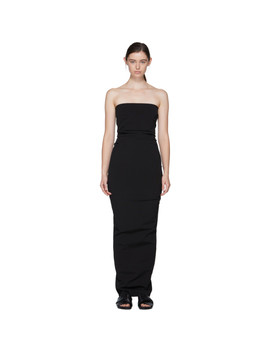 Black Bustier Gown by Rick Owens