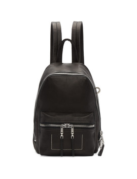 Black Mini Backpack by Rick Owens