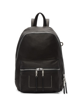 Black Small Backpack by Rick Owens