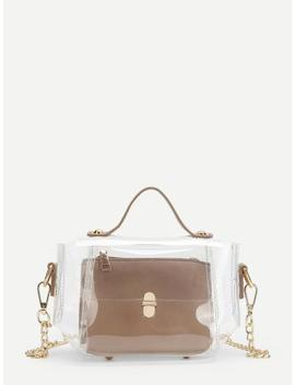 Clear Chain Bag With Inner Pouch by Sheinside