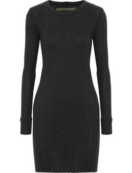Ribbed Mélange Cotton And Cashmere Blend Mini Dress by Enza Costa