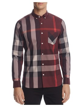 Thornaby Plaid Regular Fit Button Down Shirt by Burberry