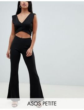 Asos Design Petite Flare In Jersey Crepe by Asos Design