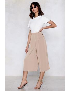 Culotte Me Later Button Pants by Nasty Gal