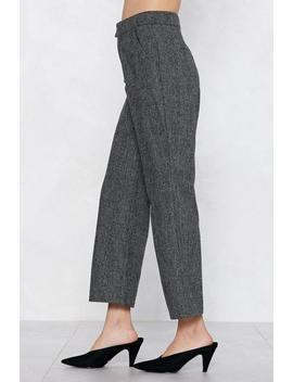 Couldn't Give Two Hoots Check Pants by Nasty Gal