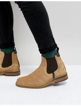 Ted Baker Bronzo Suede Chelsea Boots In Stone by Ted Baker