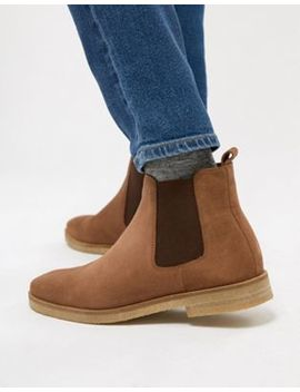 Walk London Hornchurch Suede Chelsea Boots In Tan by Walk London